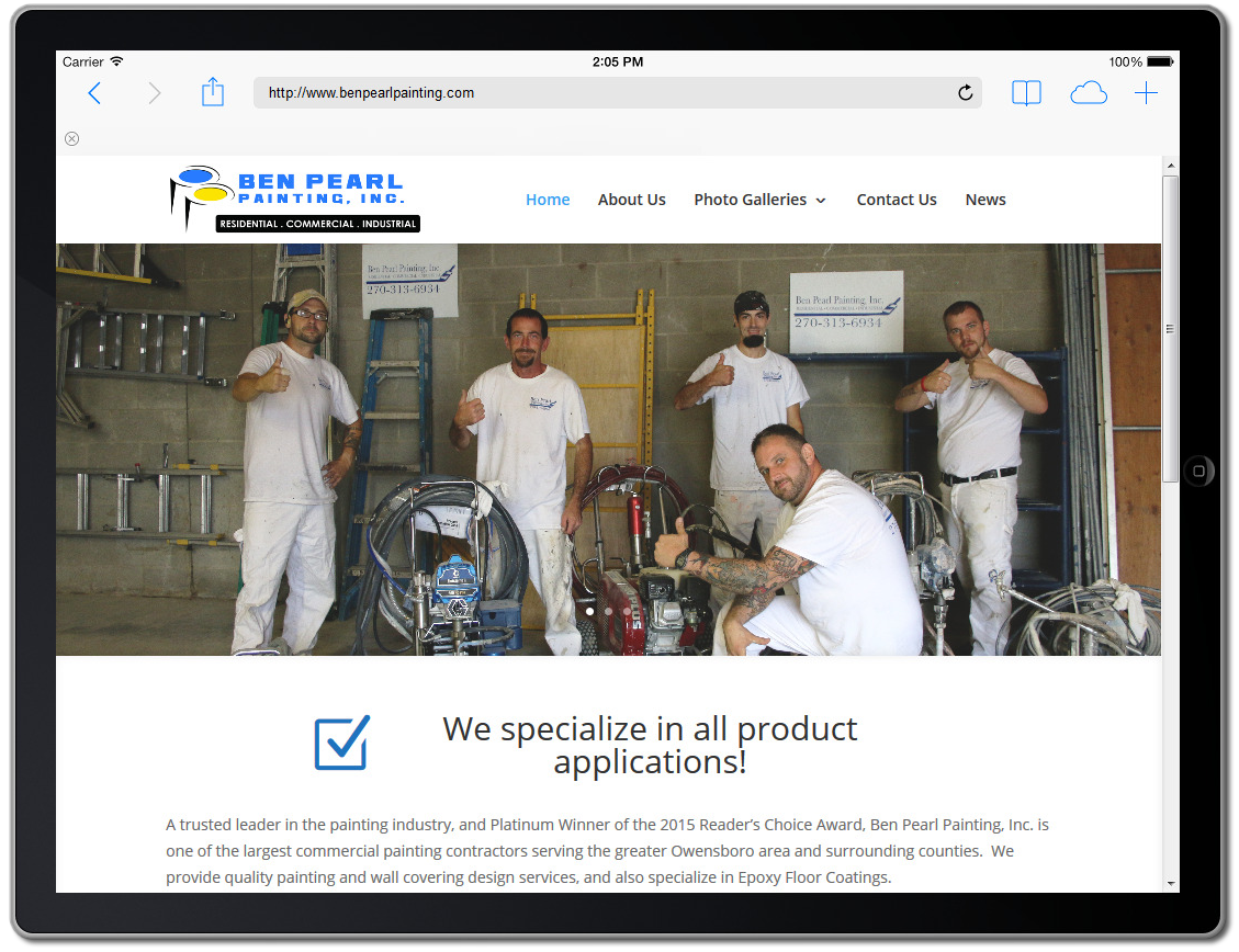 Ben Pearl Painting Company Website